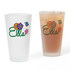 Ella Flowers Drinking Glass