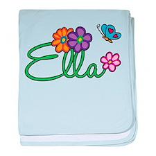 Ella Flowers baby blanket