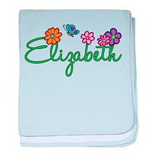 Elizabeth Flowers baby blanket