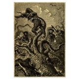 Giant Squid Attack 11x17 Print