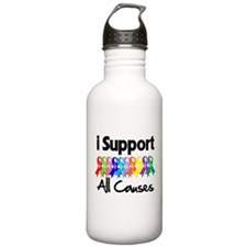 I Support All Causes Water Bottle