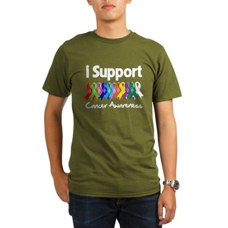 I Support Cancer Awareness Organic Men's T-Shirt (