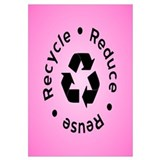 Pink Reduce Reuse Recycle
