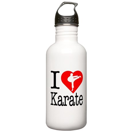 I Love Karate Stainless Water Bottle 1.0L
