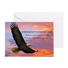Wings of Prayer (Eagle) Greeting Card