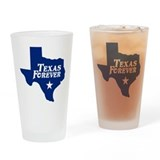Texas Forever (Blue - Cutout Ltrs) Drinking Glass