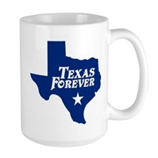 Texas Forever (Blue - Cutout Ltrs) Large Mug