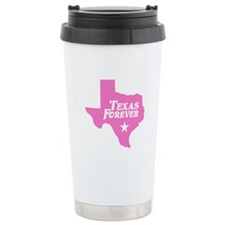 Texas Forever (Pink - Cutout Ltrs) Ceramic Travel