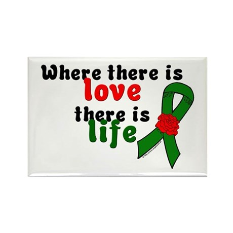 Love And Life Rectangle Magnet (10 pack)
