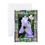 Art Deco Iris Greeting Card