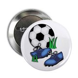 Blue Cleets Soccer Design Button