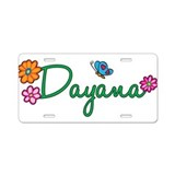 Dayana Flowers Aluminum License Plate