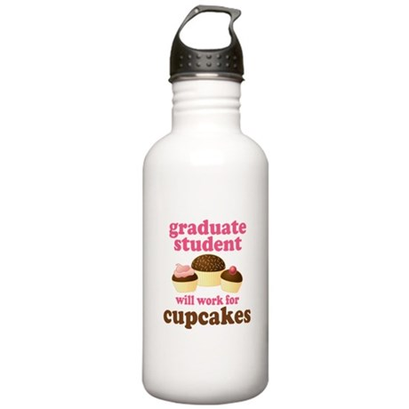 Funny Graduate Student Stainless Water Bottle 1.0L