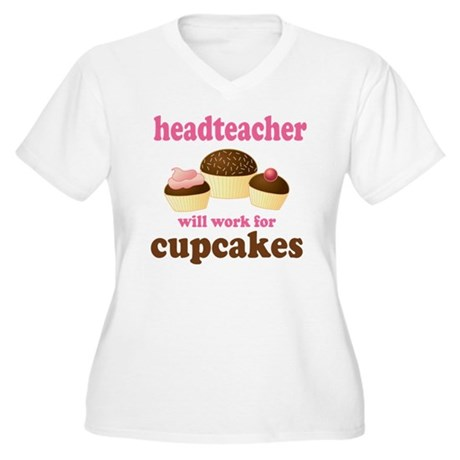 Funny Headteacher Women's Plus Size V-Neck T-Shirt