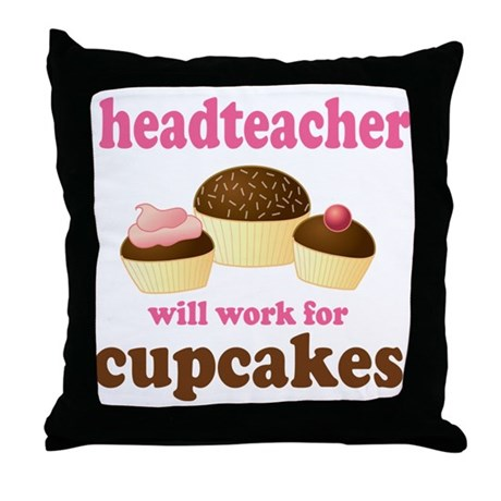 Funny Headteacher Throw Pillow