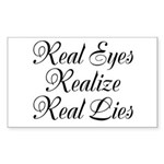 Real Eyes Sticker (Rectangle)