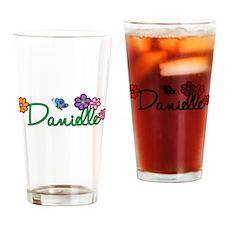 Danielle Flowers Drinking Glass