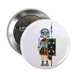"Cute Roman Gladiator 2.25"" Button"