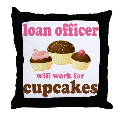 Funny Loan Officer Throw Pillow