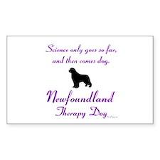 Newfoundland Therapy Dog Stickers