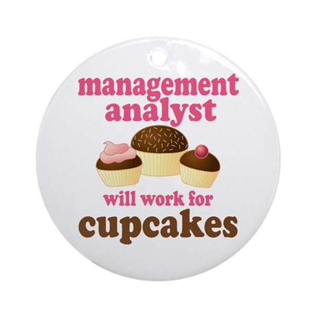 Funny Management Analyst Ornament (Round)