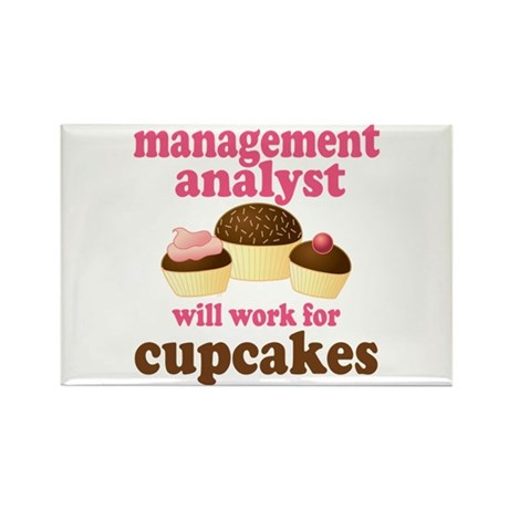 Funny Management Analyst Rectangle Magnet