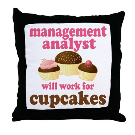 Funny Management Analyst Throw Pillow