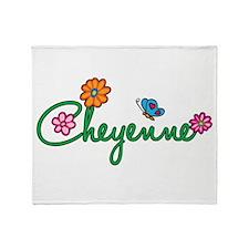 Cheyenne Flowers Throw Blanket