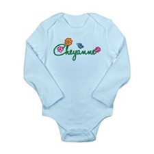 Cheyanne Flowers Long Sleeve Infant Bodysuit