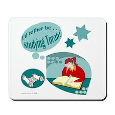 I'd rather be studying Torah! Mousepad