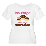 Funny Meteorologist Women's Plus Size Scoop Neck T