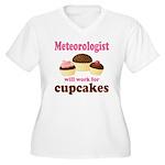 Funny Meteorologist Women's Plus Size V-Neck T-Shi