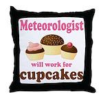 Funny Meteorologist Throw Pillow