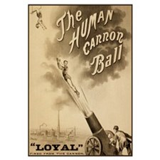 HUMAN CANNON BALL 16x20