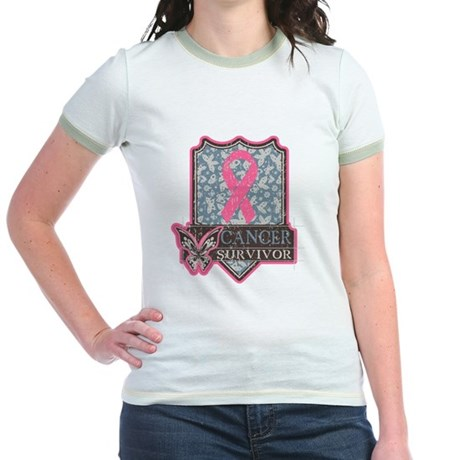 Breast Cancer Survivor Jr. Ringer T-Shirt