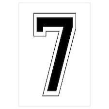Varsity Font Number 7 Black