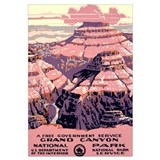 1930s Vintage Grand Canyon National Park Large Fra