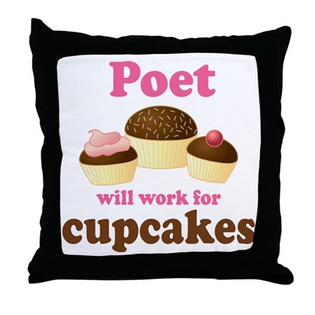 Funny Poet Throw Pillow