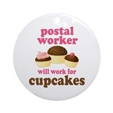Funny Postal Worker Ornament (Round)