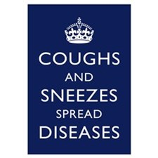 Coughs and Sneezes - - Navy Blue