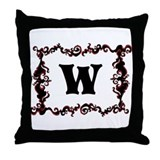 Monogram. Your Letter with Swirls Throw Pillow