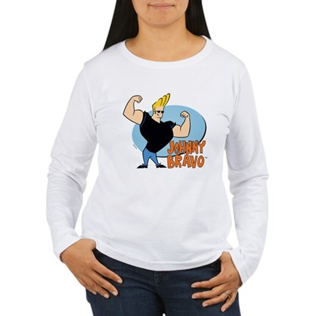 Johnny Bravo Womens Long Sleeve T-Shirt