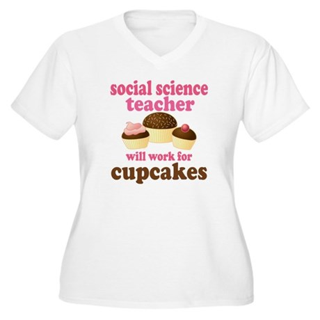 Funny Social Science Teacher Women's Plus Size V-N