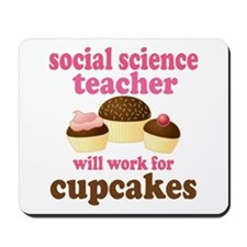 Funny Social Science Teacher Mousepad