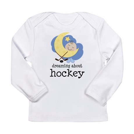 Dreaming About Hockey Long Sleeve Infant T-Shirt