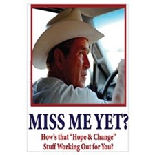 George W Bush, Miss Me Yet?