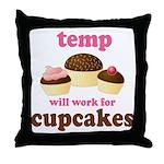 Funny Temp Throw Pillow