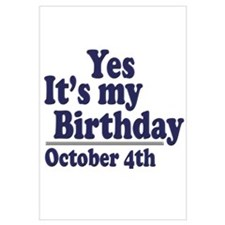 October 4th Birthday
