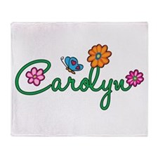 Carolyn Flowers Throw Blanket