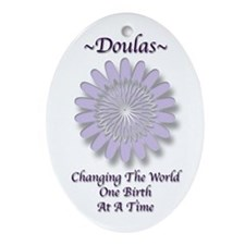 Cute Doula Ornament (Oval)